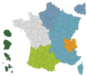 Carte de France references Protectas conseil et audit en assurance